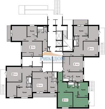 Продам 2-комн, 63.9 кв.м, Калинина ул, д. 37 - Фото 2