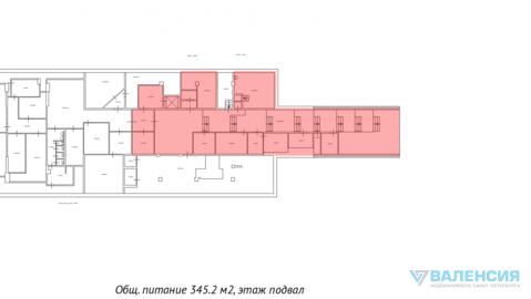 """Аренда в тк """"Перинные ряды"""" 345,2м2, цоколь, с отдельным входом. - Фото 3"""