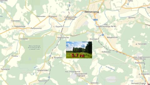 Большой участок 5.7 га. в район Звенигорода и Голицыно 45 км. от МКАД - Фото 1