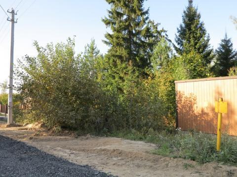 Красивый участок 10 соток у самого леса, магистральный газ, охрана. - Фото 1