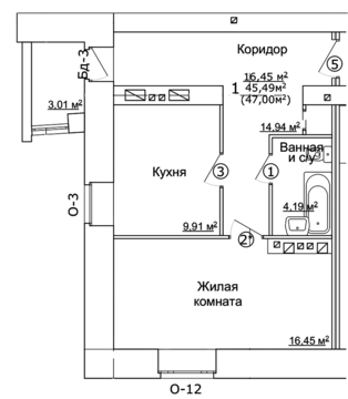 Продаю 1-комнатную квартиру на ул.Ярославская 32 - Фото 3