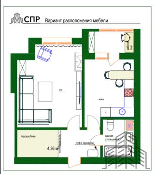 Элитная однокомнатная квартира 48,2 м2 в Централном районе - Фото 1