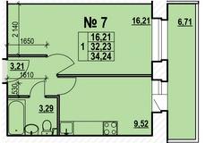 1 557 920 Руб., Продается однокомнатная квартира в новостройке Квартал-парк ., Купить квартиру в Ярославле по недорогой цене, ID объекта - 318777954 - Фото 1