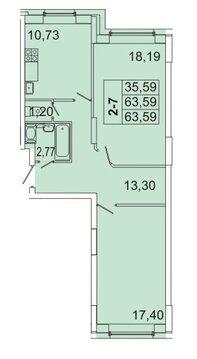 5 587 720 Руб., Продам 2к. квартиру. Кондратьевский пр-кт, д.58 к.1-1, Купить квартиру в Санкт-Петербурге по недорогой цене, ID объекта - 317898187 - Фото 1