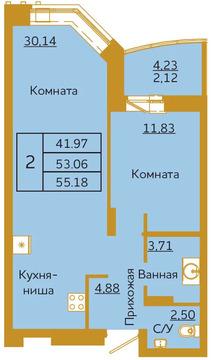 Объявление №50936922: Квартира 2 комн. Красноярск, ул. Партизана Железняка, 36,