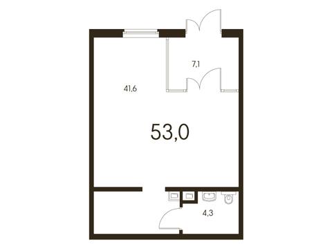 Продажа помещения свободного назначения 53 м2 - Фото 2