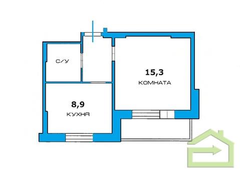 Доступная однокомнатная квартира с индивидуальным отоплением - Фото 2