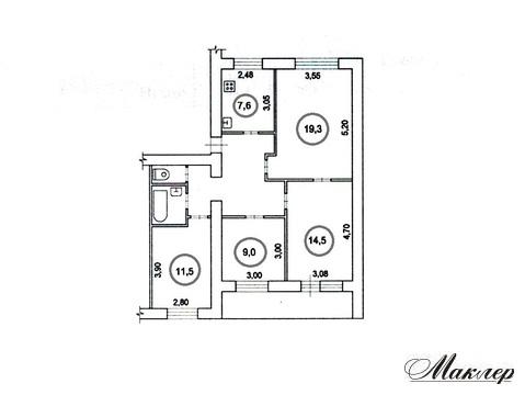 4 ккв 3/9-эт дома в г. Электросталь, пр-т Южный, д 1-1 - Фото 2