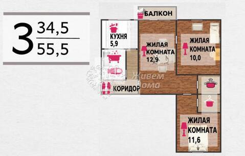 2 360 000 Руб., Продажа квартиры, Волгоград, Ул. Богунская, Купить квартиру в Волгограде по недорогой цене, ID объекта - 319367049 - Фото 1