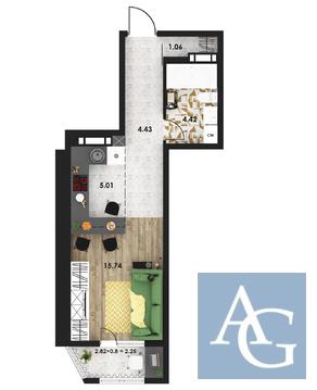 1 комнатная квартира 33 м2 в ЖК «Гагаринские высотки» - Фото 2