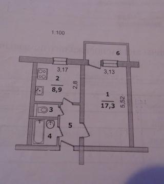 Обменяю 1-комн.квартиру, Буденного ул 14, 2/9, площадь: общая 35.00 . - Фото 3