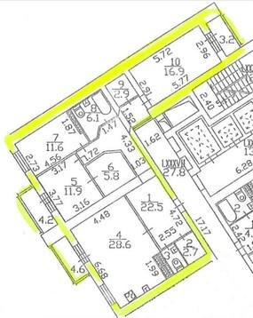 3 комнатная квартира с евроремнотом, мебелью, техникой и машиноместами - Фото 3