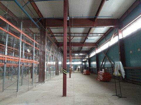 Теплый склад 550 м2 с 2 пандусами и офисом в Машково в 11 км от МКАД - Фото 1