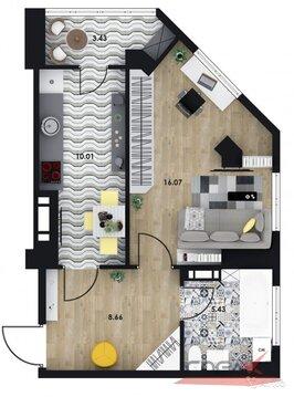 1-к квартира, 41.8 м, 2/16 эт.