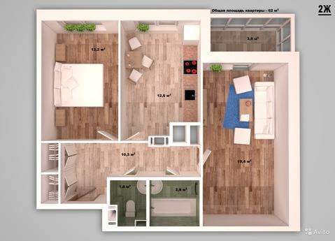 Двухкомнатная квартира с ремонтом в ЖК Мичуринский - Фото 3