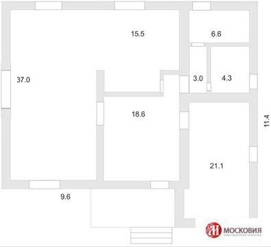 Кирпичный коттедж 240м2, центральные коммуникации, прописка Москва. - Фото 3