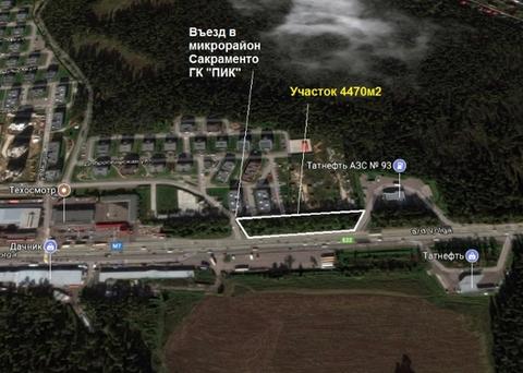 Земельный участок на первой линии М-7 в г. Балашиха под сто - Фото 1