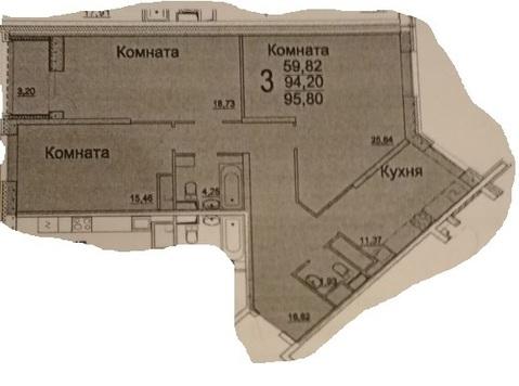 Продаем 3к квартиру 94,1 м.кв. в ЖК Новое Измайлово в Балашихе - Фото 1