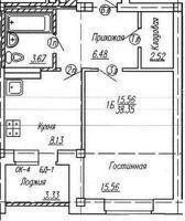 1-к квартира Луначарского, 49 к1 - Фото 4