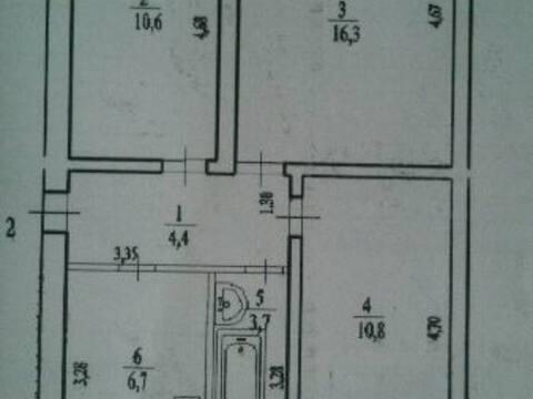 Продажа трехкомнатной квартиры на Мечетлинской улице, 9 в Уфе, Купить квартиру в Уфе по недорогой цене, ID объекта - 320177684 - Фото 1