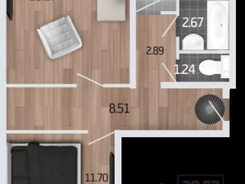 Продажа двухкомнатной квартиры в новостройке на Корейской улице, влд6а ., Купить квартиру в Воронеже по недорогой цене, ID объекта - 320574545 - Фото 1