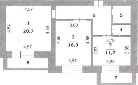 Двухкомнатная квартира в кирпичном доме на Харьковской горе. - Фото 2