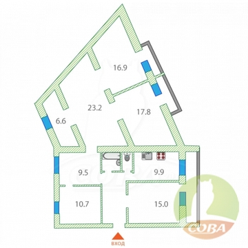 Продажа квартиры, Ялуторовск, Ялуторовский район, Ул. Революции - Фото 1