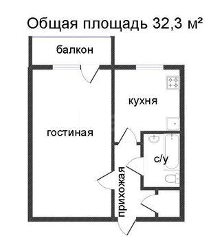 Продам 1-комн. кв. 32.3 кв.м. Тюмень, Республики