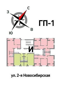Продажа двухкомнатная квартира 60.83м2 в ЖК Солнечный гп-1, секция и - Фото 2
