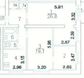 Продается 3-х комнатная квартира на Соколе - Фото 1