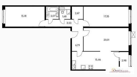 Продам 3-к квартиру, Люберцы город, жилой комплекс Люберецкий 1 - Фото 1
