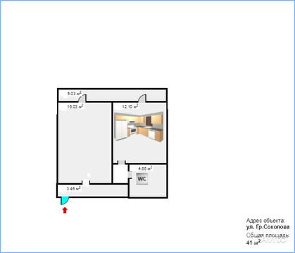 1-к квартира, 41 м, 2/4 эт. - Фото 3