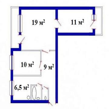 Сдаю в аренду 3-комн. квартиру 60 кв.м, м.Озерки - Фото 3