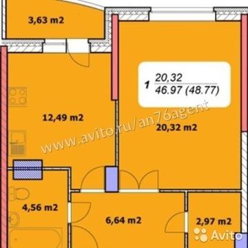 1-комнатная квартира в новостройке на ул.Лескова - Фото 4