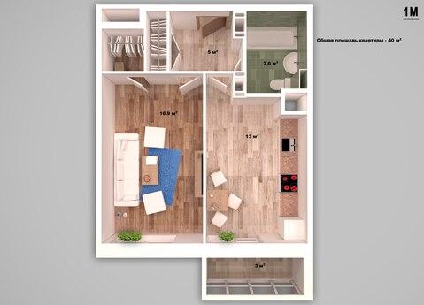 Однокомнатная квартира с ремонтом в новом, сданном доме! - Фото 2