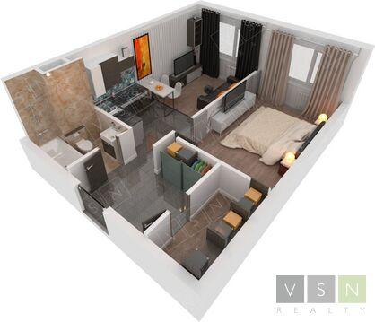 Продается квартира г.Одинцово, 1-я Вокзальная, Купить квартиру в Одинцово по недорогой цене, ID объекта - 321183527 - Фото 1