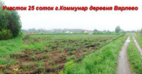 Участок 25 соток лпх в Коммунаре, деревня Вярлево - Фото 2