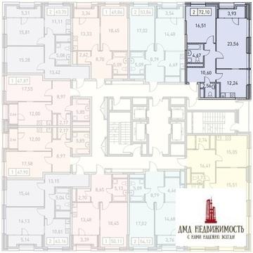 Двухкомнатная квартира по адресу ул. Поляны д.5 б4 (ном. объекта: . - Фото 1