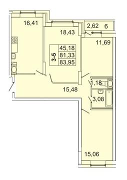 Продам 3к. квартиру. Кондратьевский пр-кт, д.58 к.1-1 - Фото 1