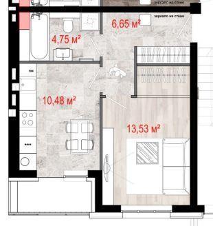 Продажа 1-комнатной квартиры, 36.79 м2, г Киров, Севастопольская, д. . - Фото 1