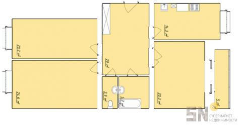 3-ком квартира в Загородном - Фото 2
