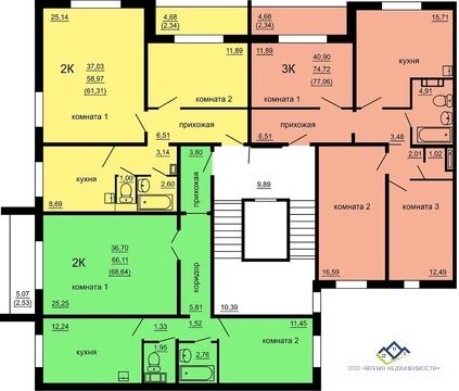 Продам 2-тную квартиру Мусы Джалиля 10стр, 8 эт, 68 кв.м.Цена 2130 т.р - Фото 2