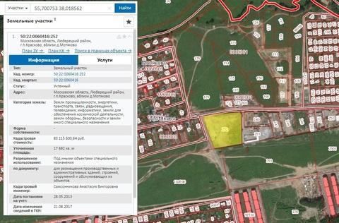 Участок 1,77 Га на 1-й линии для бизнеса в 14 км от МКАД за Люберцами - Фото 2