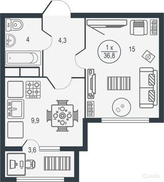 Квартира в новом жилом комплексе Иллидиум - Фото 2