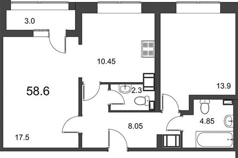 Квартира в новом доме бизнес-класса у метро Петроградская - Фото 4