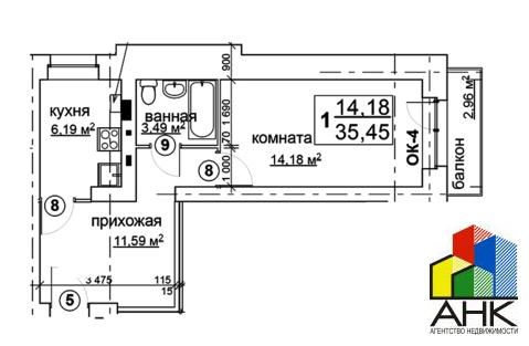 Продам 1-к квартиру, Ярославль город, 2-я Новая улица 22аc1 - Фото 3