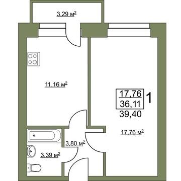 Продажа квартиры, Поляны, Рязанский район, Заборье - Фото 4