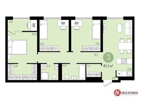 3-комнатная квартира в Видном