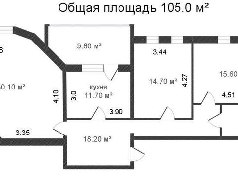 Продажа трехкомнатной квартиры на переулке Фридриха Энгельса, 147 в ., Купить квартиру в Калуге по недорогой цене, ID объекта - 319812813 - Фото 1
