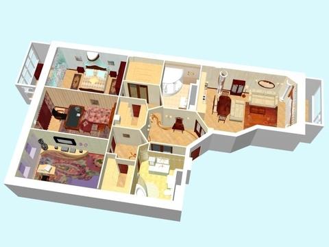 Продажа 4-комнатной квартиры на Казарменном переулке 3 стр.6 - Фото 2